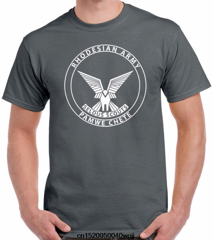 Nouveau 8 couleurs col rond T-shirt style européen tees de coton doux Selous Scouts Armée de Rhodesian Urban Kpop T-Shirts