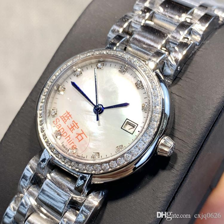 Yüksek kaliteli Moda Lady Kuvars Saatler Zarif Kadın Elbise Relogio Ünlü sıcak satış tasarımı Üst dereceli Paslanmaz Çelik Gül altın saatı