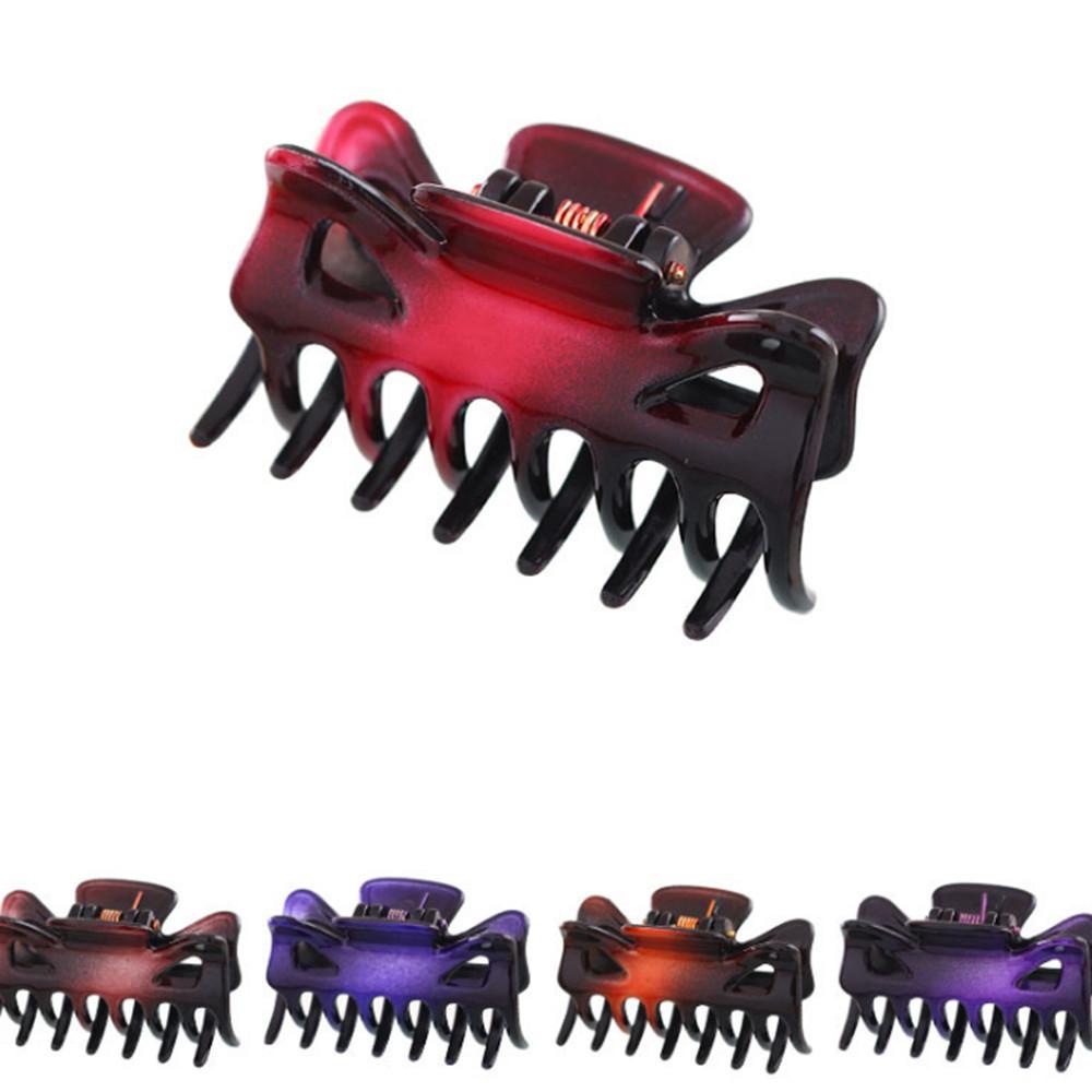 12 pc / pacchetto 4 centimetri piccoli artigli morsetto della clip 7 Denti clip di capelli delle forcelle Donne Accessori per capelli styling trasporto di goccia
