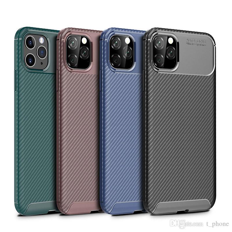 Gommage Anti chute en fibre de carbone téléphone portable Iphone cas applicable 11 Pro Max Beetle Mobile Shell iPhone XR