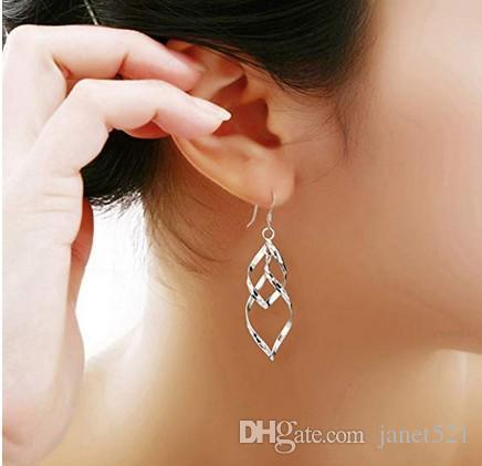 Femmes Mode Boucles d'oreilles Dangle Boucles d'oreilles pour Femmes Filles Double Classique Boucles d'oreilles linéaires Grande idée de cadeau