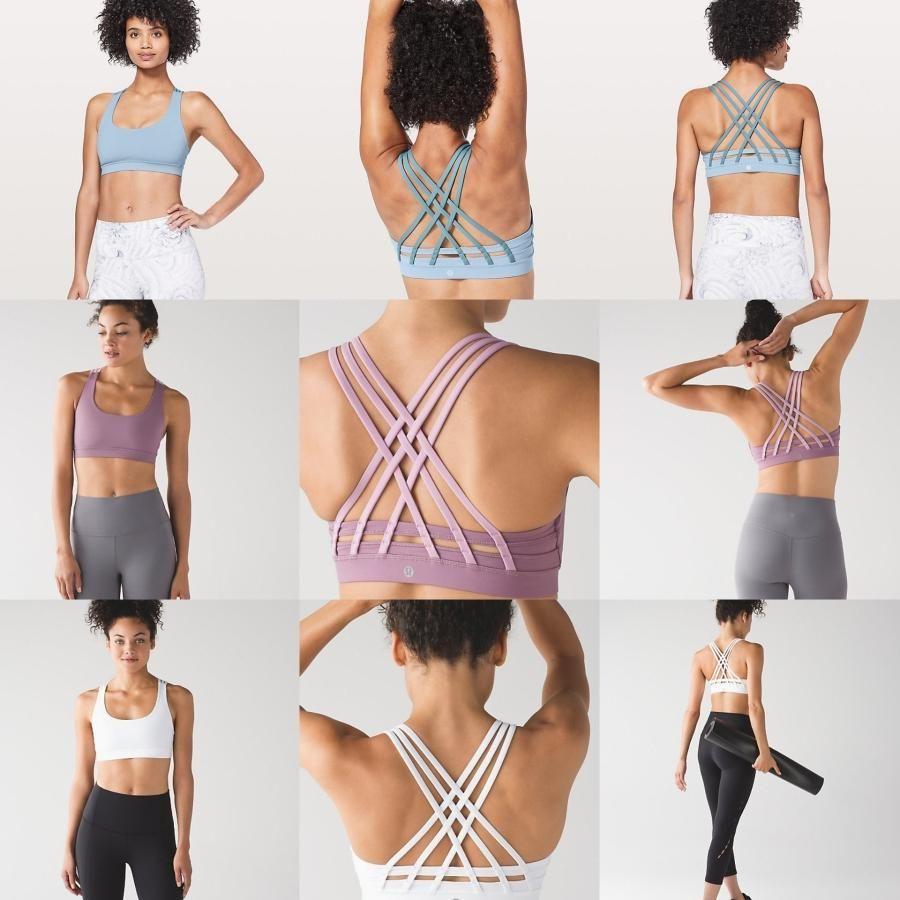 2020 concepteurLululemonluluLu yoga femmes citron lou filles camo transparente séance d'entraînement de soutien-gorge de sport yogaworld ensemble setspoiZ de #