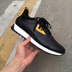 scarpe casual Designer vere scarpe da uomo in pelle occhi gialli scarpine mostro casuali Lace-Up di moda 38-46 97