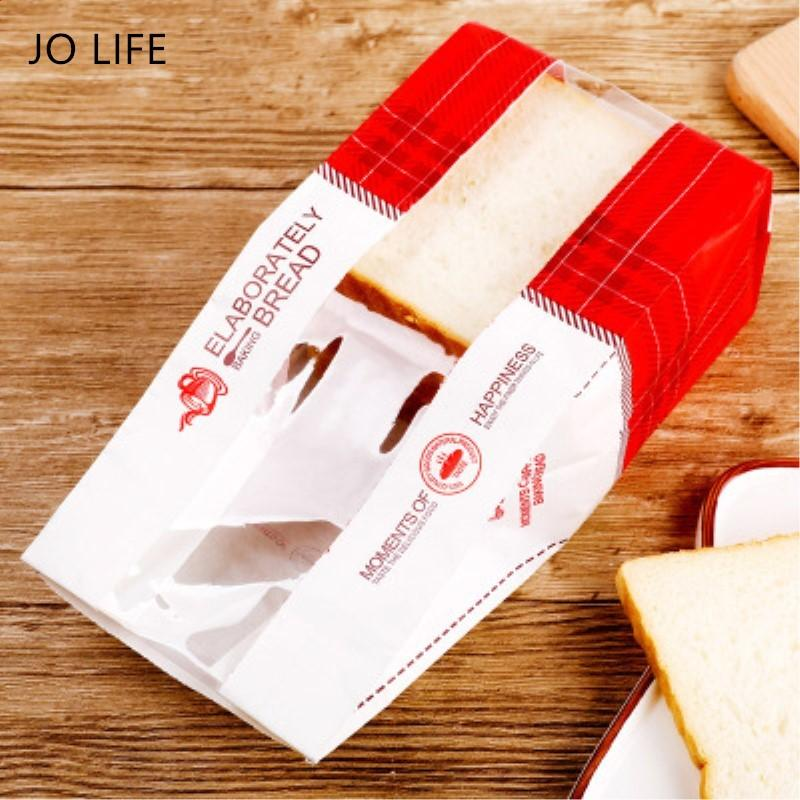 Джо бумажная жизнь 20шт Крафт мешок сэндвич тост хлеб выпечки прояснить прозрачный орехов печенья Снэк пакет