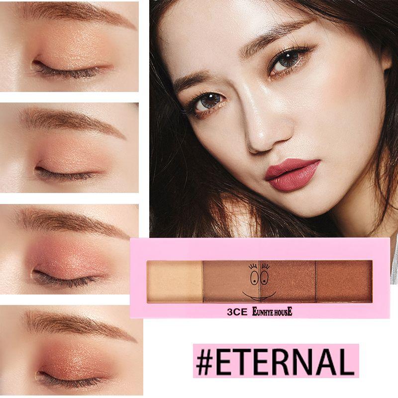 3CE EUNHYE HOUSE 4 Colors Eyeshadow Palette Make up Kit Eye Shadow Nude Matte Natural Shimmer Eye Primer Beauty Cosmetics Tools SG1601