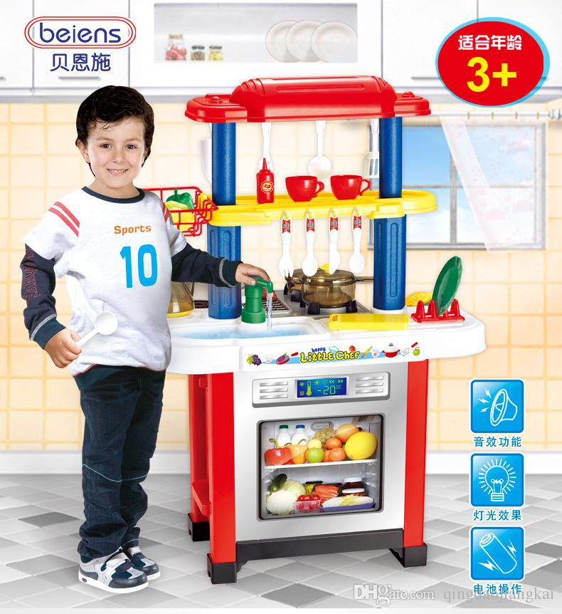2019 Us Eu Hotsales Beiens Brand Toys No768 Children\'S Play Kitchen Set  Kitchen Cooking Toy Simulation Toy Boys And Girls Pretend Play Toys From ...