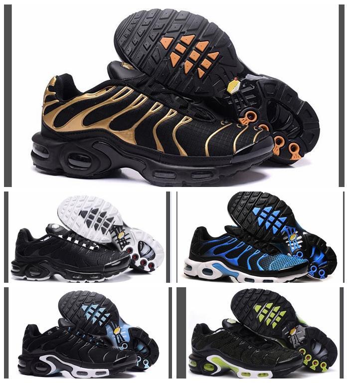 D'origine classique Tn Chaussures nouveaux modèles de Mode Hommes TNS Chaussures De Course Respirant Pas Cher Tn Plus Chaussures Requin Sport Formateurs sneakers