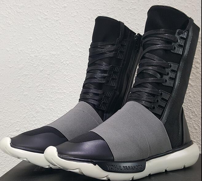 Heißer Verkauf-Herbst und Winter ADDSy-3 neue 2017 schwarze Samurai-Reißverschlusshohe Stiefel y3 Ninja Männer und Frauen Freizeitschuhe Laufschuhe