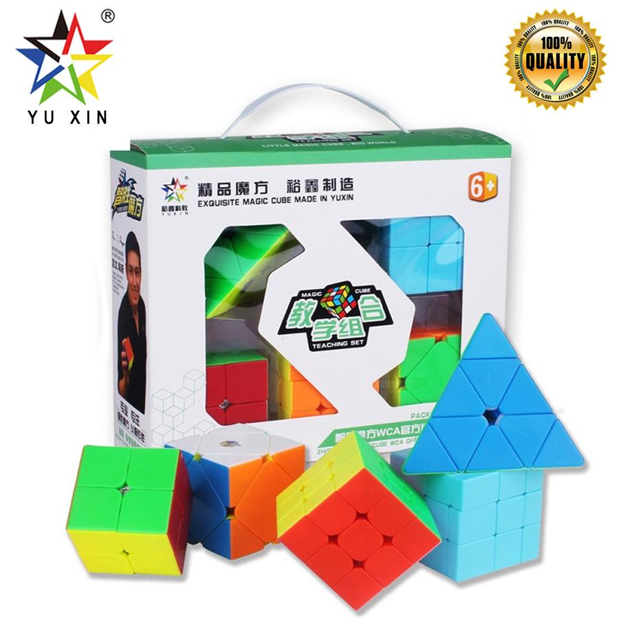 2019 YUXIN Magic Cube Set PYRAMID SKEW Mirror 2x2x2 3x3x3 Speed Cube Puzzle Professional 5pcs Toys For Children Educational Toys