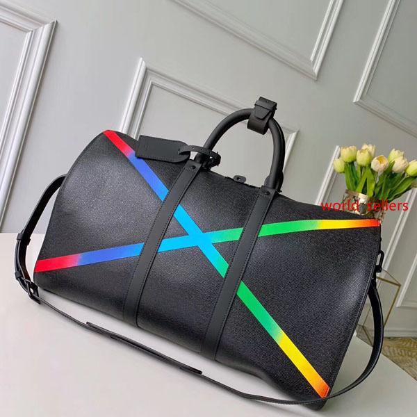 # 6458 5A L KeepAll bandoulière Grande Capacidade Mulheres Travel Bag 50CM Galaxy Taiga V Homens Ombro mochilas transporte de bagagem Handbag Bag M30345
