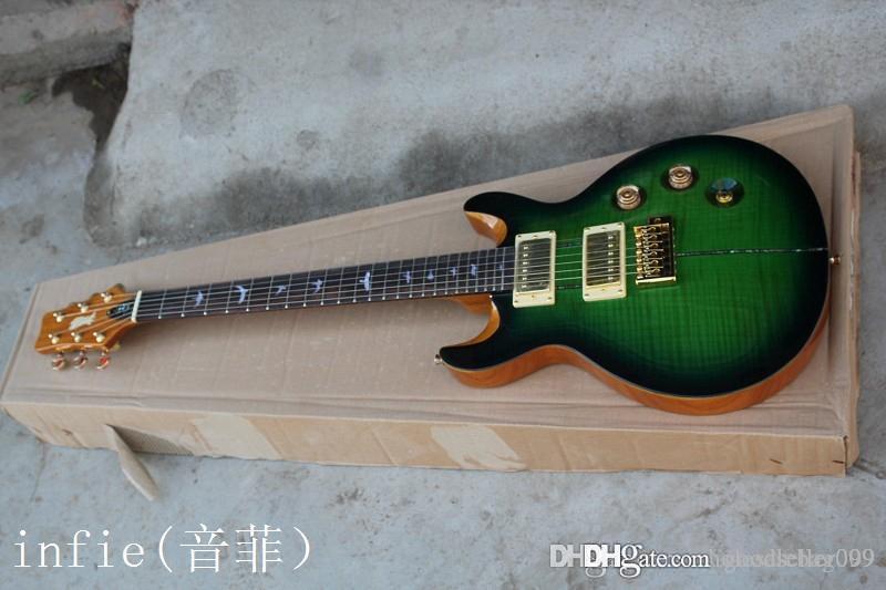 frete grátis 2014 New P.R.S 24 produtos cor guitarra elétrica guitarra de Shell de piano mosaico