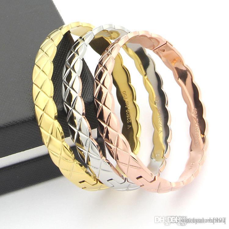 Uphot moda 316L paslanmaz çelik Gümüş / Altın / gül altın kadın Aşk bilezik charm bilezikler kadın erkek Takı Pulseras Parti hediyeler