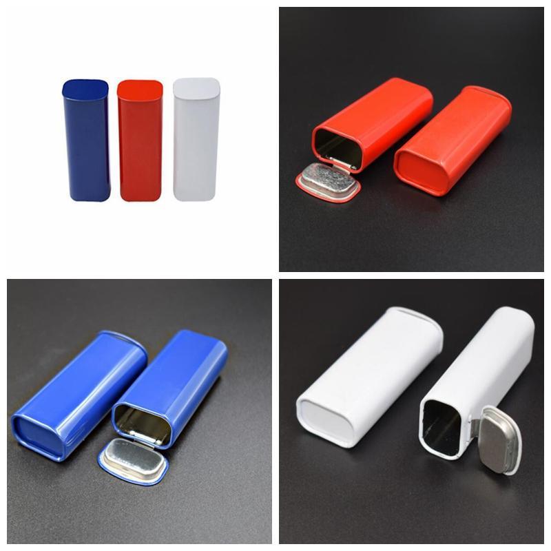 최신 미니 다채로운 금속 분말 저장소 저장소 병 약 허브 패키지 포장 상자 담배 컨테이너 휴대용 흡연 도구