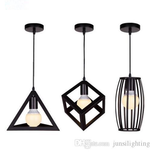 Loft Iron Pendant Lights Industrial Style Restaurant Bar Creative Retro Bar Pendant Lamps E27 Hanging Lights
