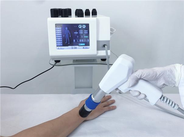 ESWT Portable Akustische Radiale Stoßwellentherapie Luftdruckstoßwelle mit 6Bar 21Hz für orthopädische PhysiotherapiemaschinenE