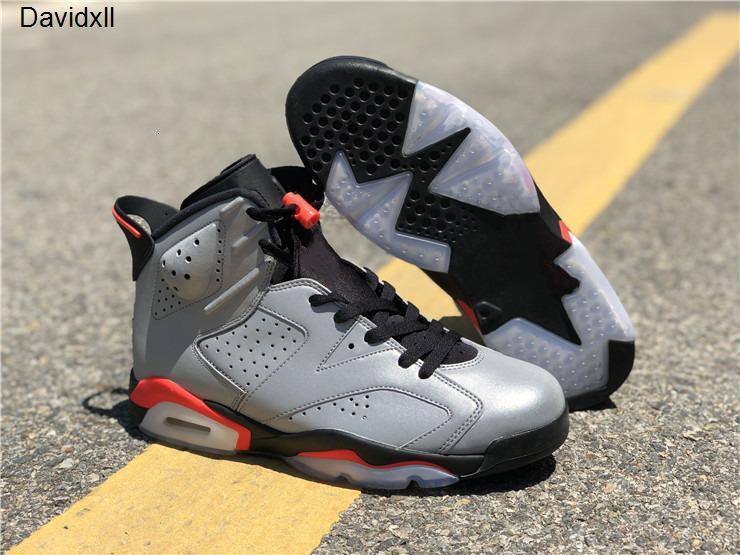 Alta Versão 6s 3M reflexiva Homem Infrared Shoes Designer Basquetebol populares VI Reflexões de um campeão Moda Trainers vem com caixa