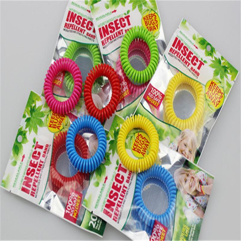 Anti-Moskito-Rückstoß-Armband Anti-Moskito-Bug-Pest-Abwehr-Handgelenk-Band Armband Insekt-Rückputzmodzie Halten Sie Bugs weg gemischte Farbe