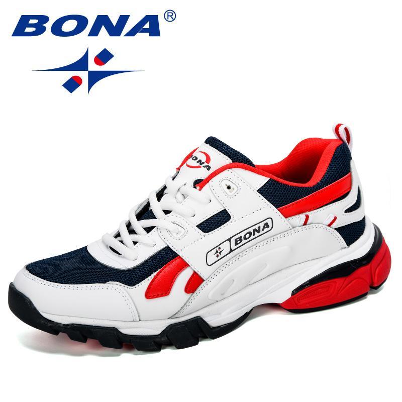 BONA Nouveautes Designers Homme Chaussures Chaussures de course Chaussures de sport pour hommes en plein air Athletic Krasovki Tennis Jogging Man