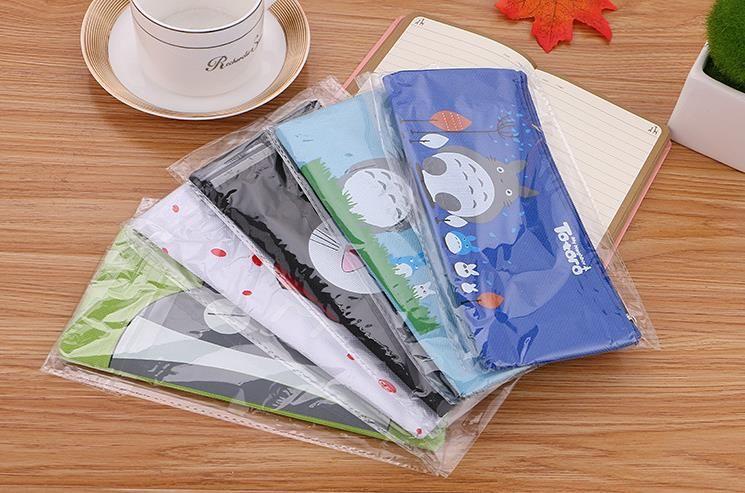 الطالب الكرتون ميازاكي Totoro أكياس قلم رصاص الأطفال أكسفورد القماش أكياس القرطاسية أطفال لطيف أكياس قلم رصاص