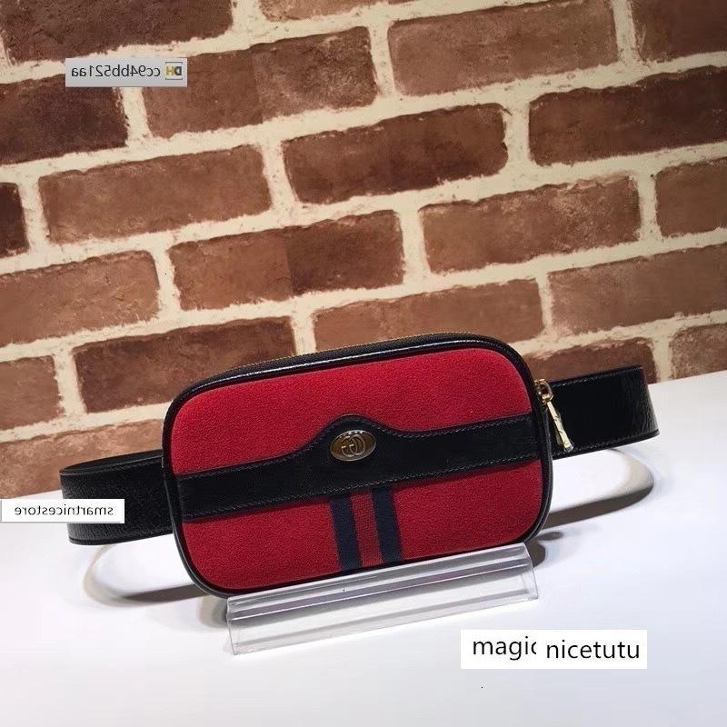2020 A776 Top-Qualität Design-Brief Band Metallschnalle Taille Hirschleder Frau 519.308 Mini Brusttasche Handtasche