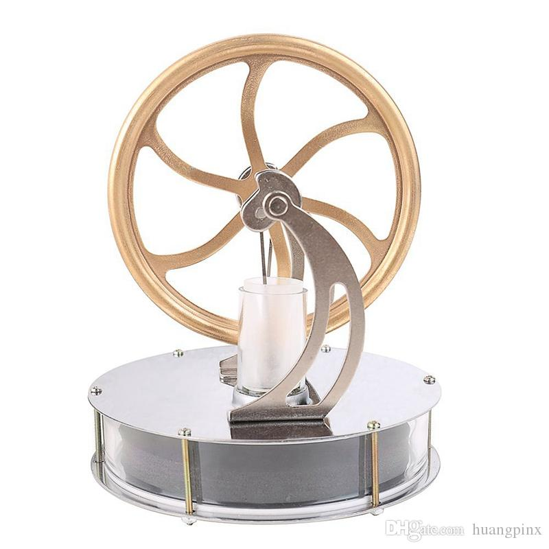 Freeshipping Low Temperature Stirling Engine Motor Steam Heat Education Model Toy Kit Run Off The Temperature Difference