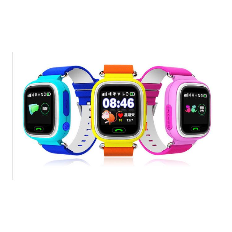 Q90 GPS Child Smart Watch Phone Position Children Watch Color Touch Screen WIFI SOS Smart Baby Watch for Kid Safe Anti-Lost Monitor