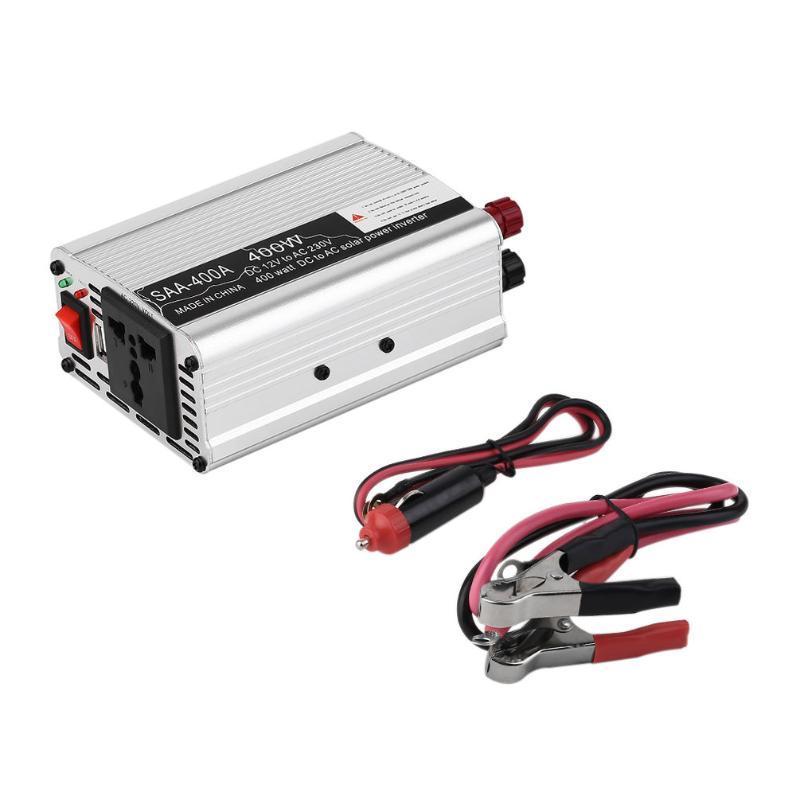 SAA 400 W / 600 W Onduleur De Voiture Véhicule tension inverseur DC12V À AC220V onduleur Adaptateur