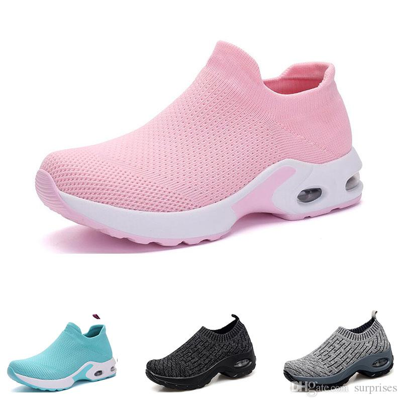 2020 New arrivel running shoes for womens black white pink bule grey oreo sports sneakers trainers 35-42 big size fourteen