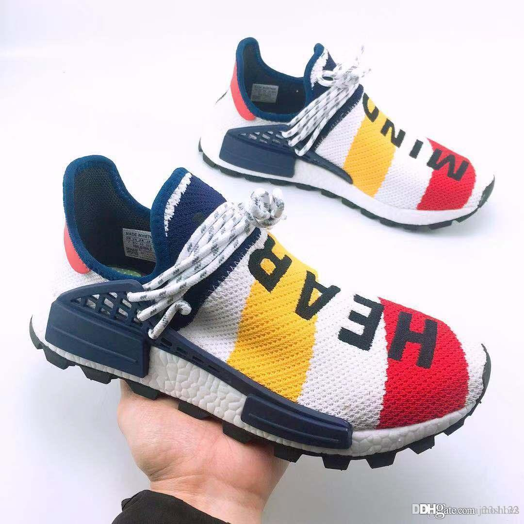 atacado PW x Mens Designer Hu Holi Glide Solar UB Pharrel Williams PYV Running Shoes Athletic sapatilhas esportivas Chaussures