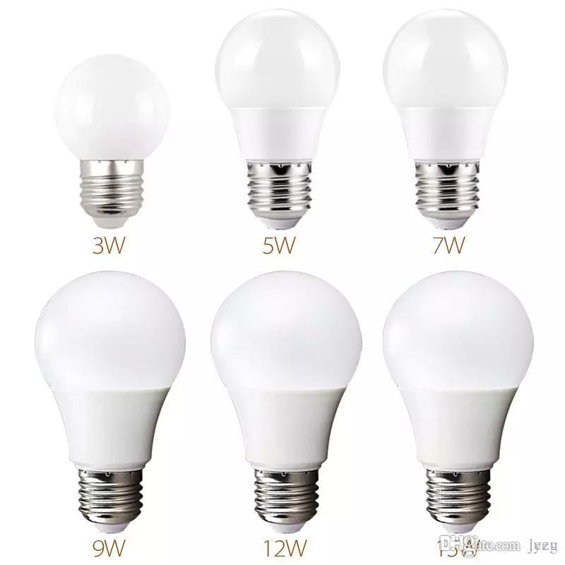السوبر مشرق E27 LED مصباح 5W 7W 9W 12W 15W 360 زاوية SMD LED لمبة الكرة حاد الخفيفة الإضاءة في الأماكن المغلقة LED لمبات
