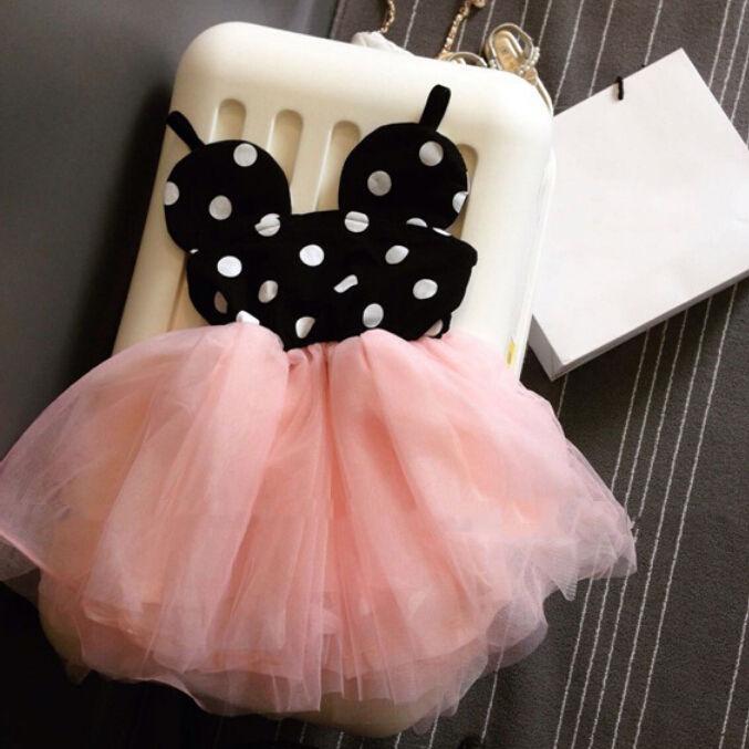 Pudcoco 2019 vestido de verano de la historieta linda del niño de los bebés de los niños rosado de la princesa vestidos de partido de la manera del cordón lindo ropa 0-5Y SS