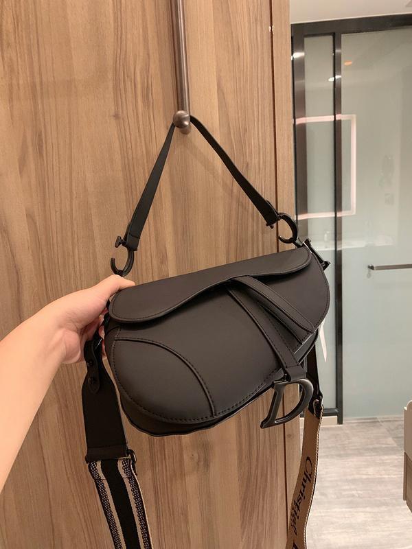 nuova moda classici signore borsa a tracolla della sella moda borsa borsa di stile lettera metallico accessori impressionante con formato della scatola 25 centimetri