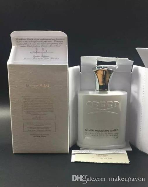 makeupavon Creed Perfume 120ml Perfume Água Men Cologne Sliver Montanha Com cheiro bom Satisfatório Fragrance Qualidade frete grátis