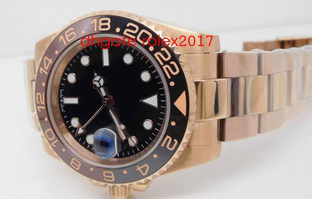 망 슈퍼 BP 공장 최고의 품질 ETA 40mm GMT 배트맨 세라믹 18K 골드 CAL.2813 자동 망 시계 시계
