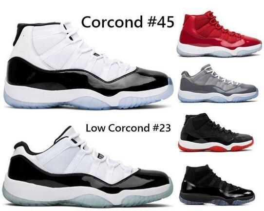 11 Männer 11s Bred Concord 45 Legend Blau-Basketball-Schuhe 72-10 Frauen Cap und Gown Prom Night Space Jam Designer Turnschuh-Mann-Sportschuhe