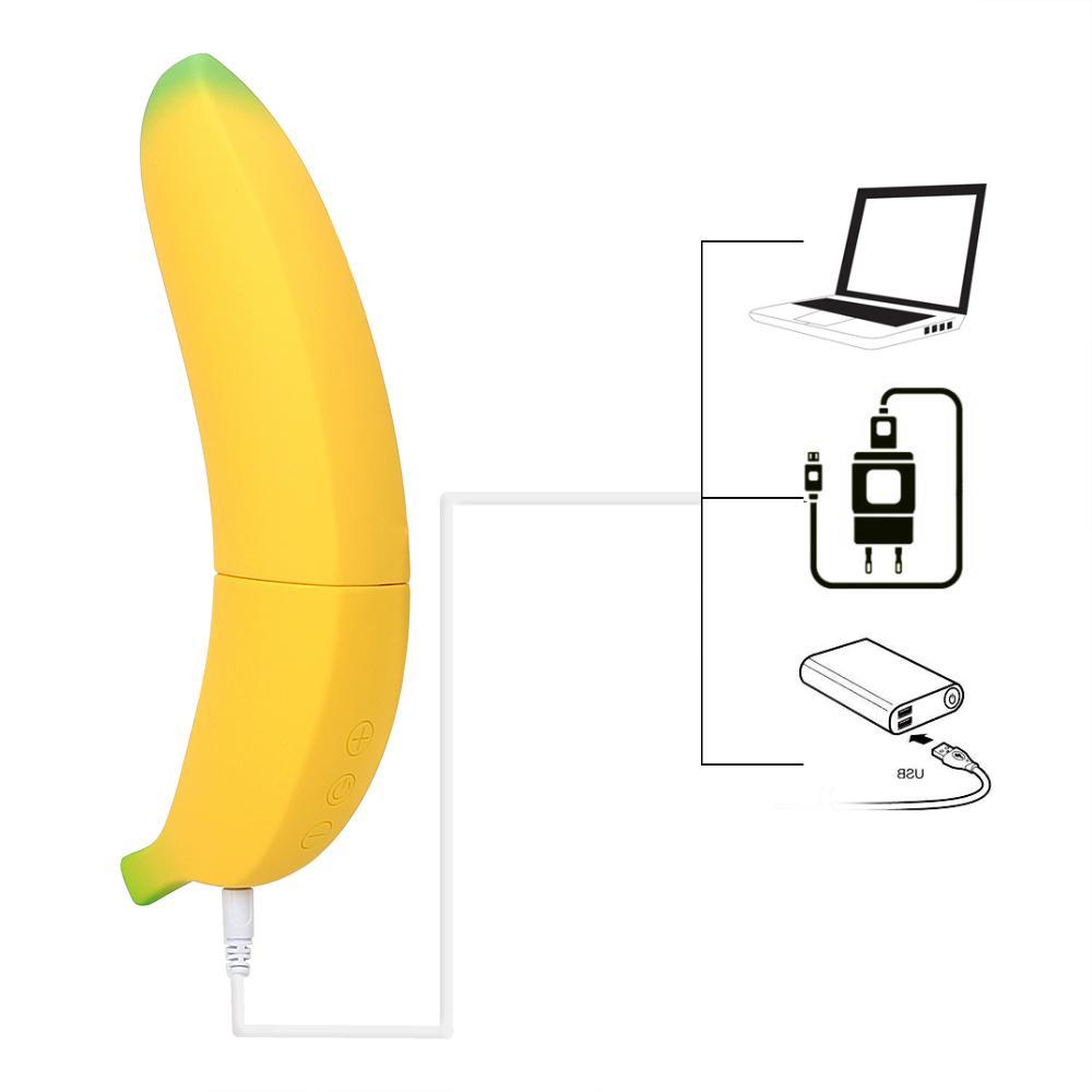 Donne 7 G-Spot Banana Vibratore Femminile Dildo Velocità Velocità VAGINA Stimolatore Adulto Adulto Giocattoli realistici Erotici Sesso per Vatine Masturbator MX191228 OCOMW