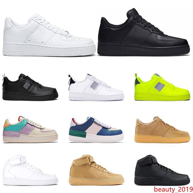 2019 chaussures en cuir occasionnels HighLow Hotsale pour hommes, femmes mystique marine triple utilité blanc tropical noir torsion extérieur Plateforme Taille 36-45