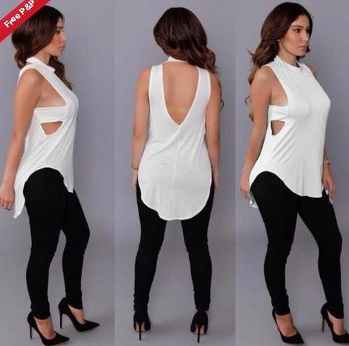 Moda-Sıcak Satış kadınlar seksi mahsul en t shirt tasarımcı 2015 yaz stil bayan gömlek tops seksi aç geri uzun t gömlek kadınlar tees tops