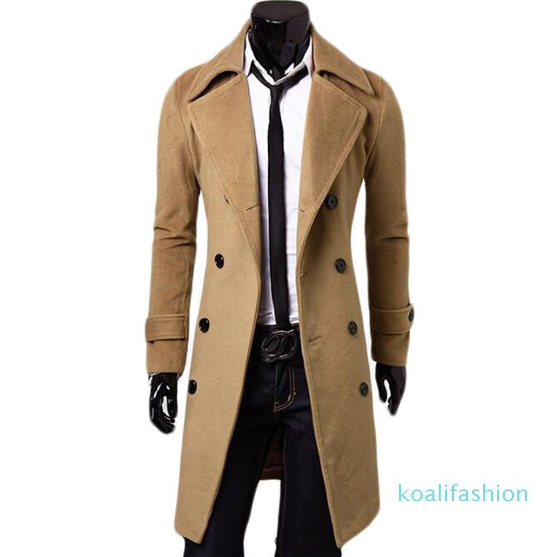 CROISÉ X-Long Veste coupe-vent Woollen Blends Palto Jaqueta Masculina hommes d'hiver Manteau Hombre vestes pour hommes et manteaux XM0
