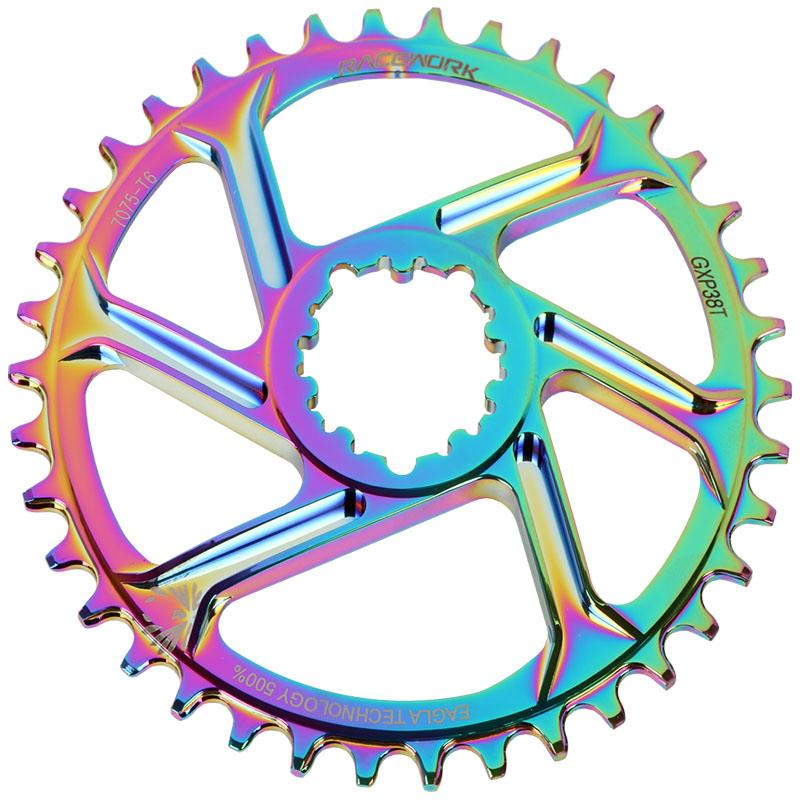 MTB GXP Narrow Wide Chain Wheel Bicycle Chainwheel/Chainring 6mm Offset 32/34/36/38T Round Compatibility 9/10/11 speed