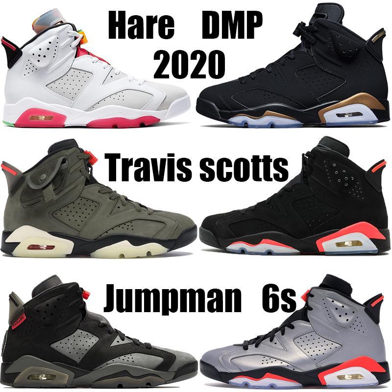 Топ DMP 2020 Hare 6 6s Баскетбол обувь Орегон уток черного инфракрасный Белый Travis масличного UNC черного кот бегущих тапок спорт теперь возили