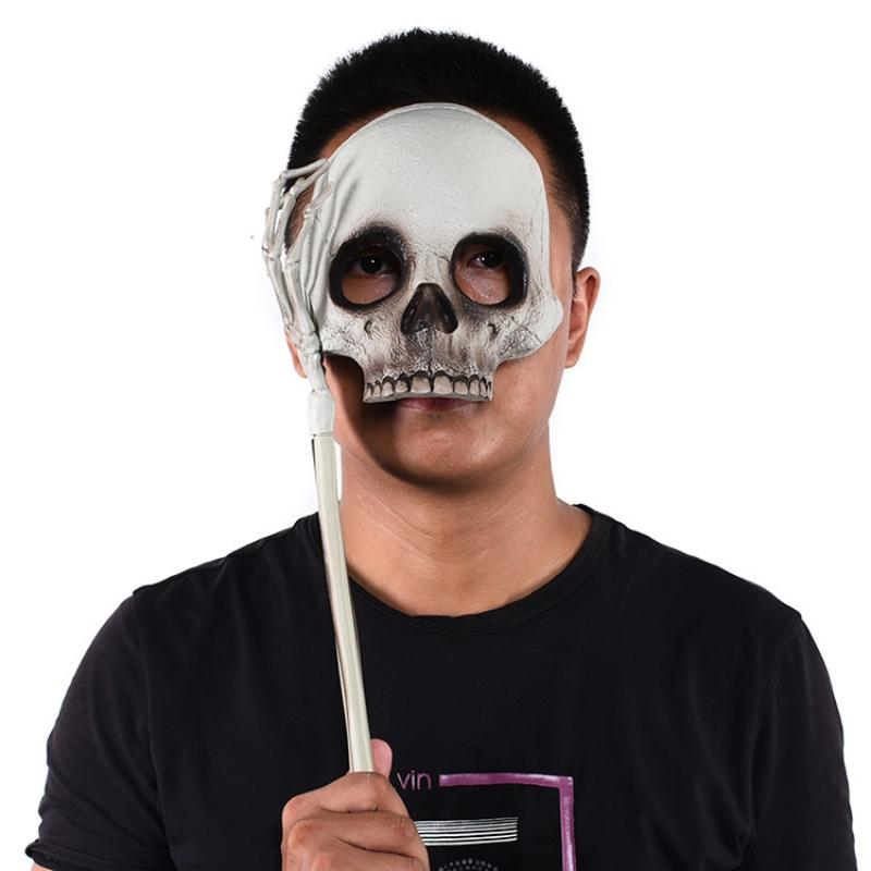 Halloween Skull Funny Mask Gag Toys Ghost Mask Detachable Ghost Hand Horror Props Performing Masquerade Supplies Spoof Toys
