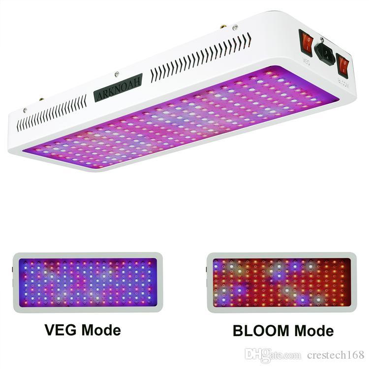 2000W Bitki Grow Işıklar, Veg ve Bloom anahtarı ile Işık 1500W Tam Spektrum Büyüyen Lambası LED Grow Kapalı Bitkiler için kit