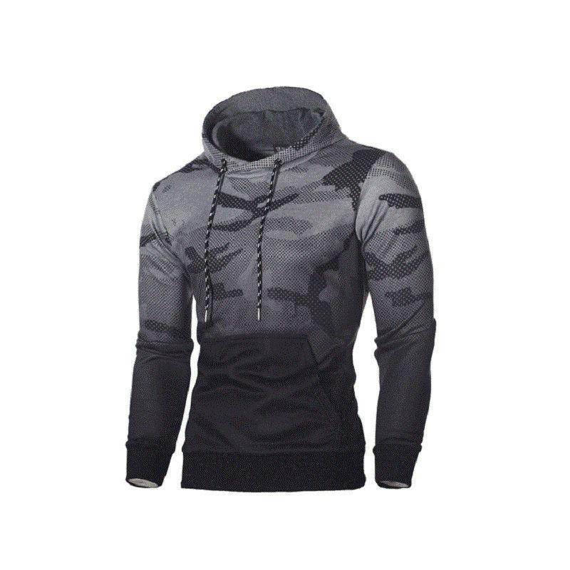 Mens Plus Size Camouflage Langarm Pullover Sportbekleidung Hoody Trainingsanzug Kapuzenpullover Lässige Hoodies Sweatshirts