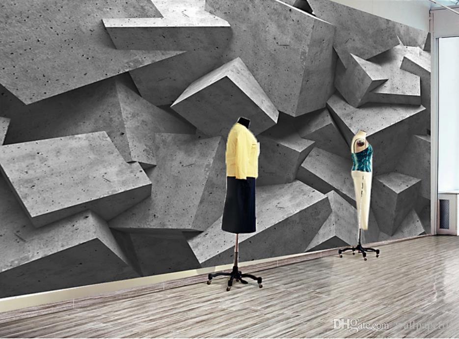 carta da parati per pareti 3 d per soggiorno 3d astratto edificio spazio poligonale turno palla tv sfondo muro
