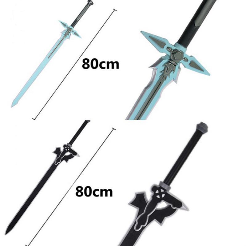 1: 1 Sword Art Online repulsor oscuro KIRITO Kirigaya Espada de Cosplay Kirigaya Kazuto apuntalar Yuuki Asuna espada negro cosplay prop