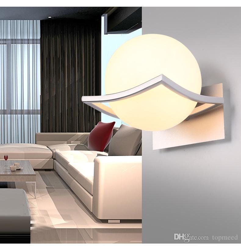 Neue Art E27 LED Wandlampen Metallglaskugel-Wandleuchten für Durchgangskorridor Schlafzimmernachttischlampe AC85-265V geben Verschiffen frei