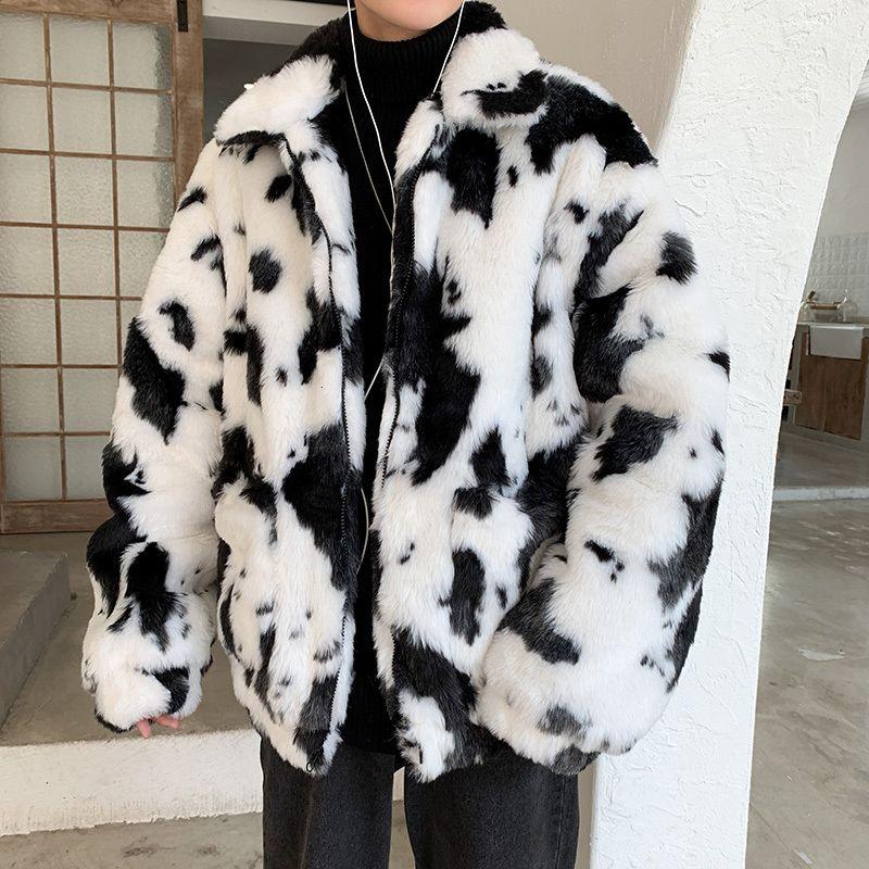 Erkek Lüks Kürk Palto Faux Kürk ceketler giyim Parka Palto Büyük Beden 3XL Aşıklar İnek Deri Ve Kürk Sıcak Man Gevşek Coat tutun
