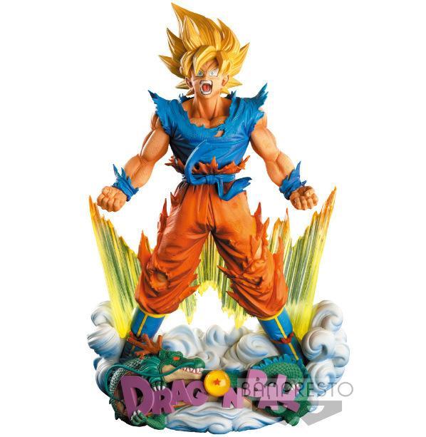24 cm Dragon Ball Z Süper Saiyan Son Goku Anime Action Figure PVC Yeni Koleksiyon Noel hediyesi için Y190529 oyuncaklar Koleksiyon rakamlar