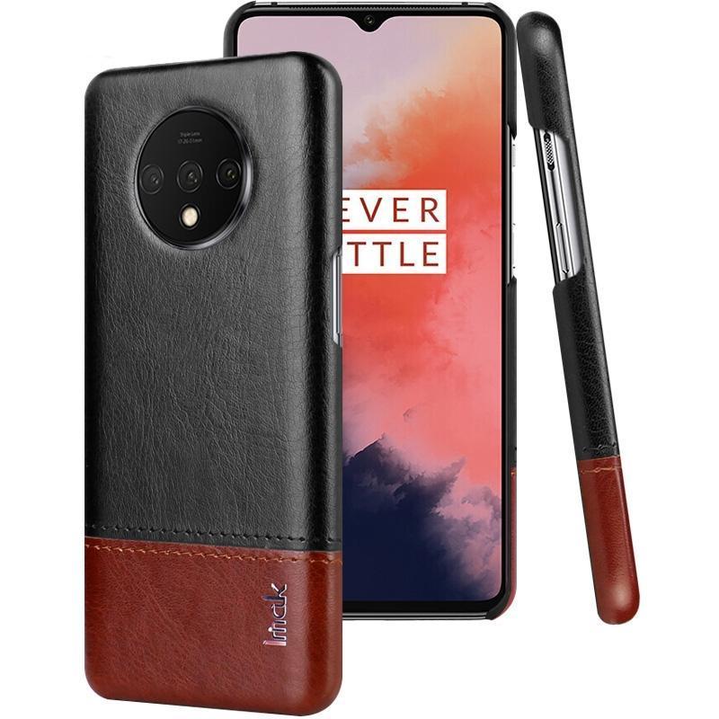 Per OnePlus 7 T IMAK Ruiyi Serie Concise Slim PU + PC Custodia Protettiva Con Protezione Dello Schermo A Prova di esplosione